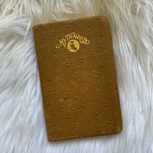 1928 Leather Bound Gold Leaf Travel Journal
